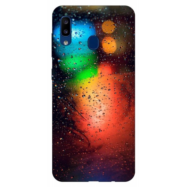 Husa Silicon Soft Upzz Print Samsung Galaxy A20 Model Multicolor imagine itelmobile.ro 2021
