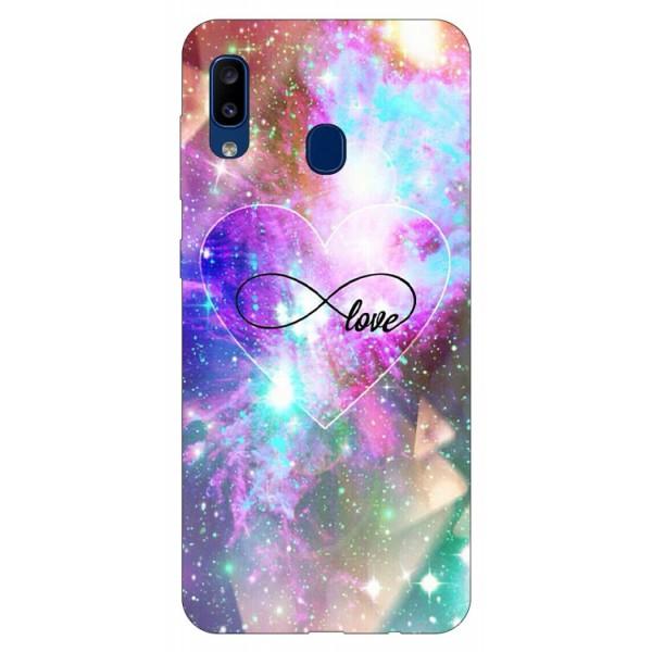 Husa Silicon Soft Upzz Print Samsung Galaxy A20 Model Neon Love imagine itelmobile.ro 2021