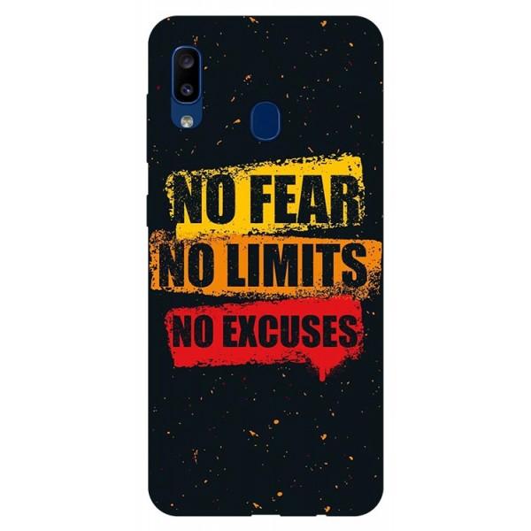 Husa Silicon Soft Upzz Print Samsung Galaxy A20 Model No Fear imagine itelmobile.ro 2021