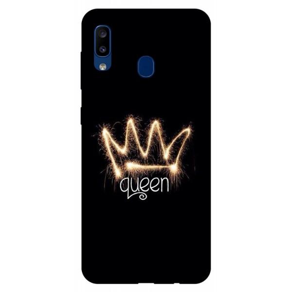 Husa Silicon Soft Upzz Print Samsung Galaxy A20 Model Queen imagine itelmobile.ro 2021