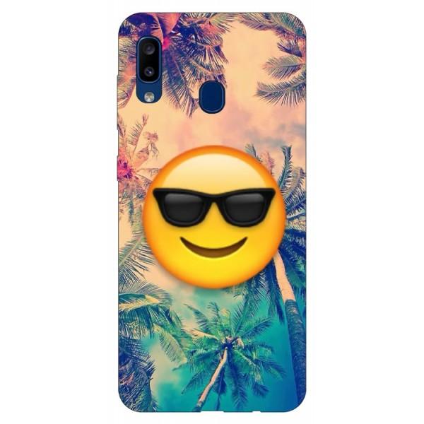 Husa Silicon Soft Upzz Print Samsung Galaxy A20 Model Smile imagine itelmobile.ro 2021