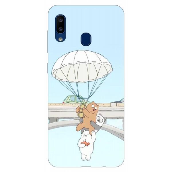 Husa Silicon Soft Upzz Print Samsung Galaxy A20 Model Three Bears imagine itelmobile.ro 2021