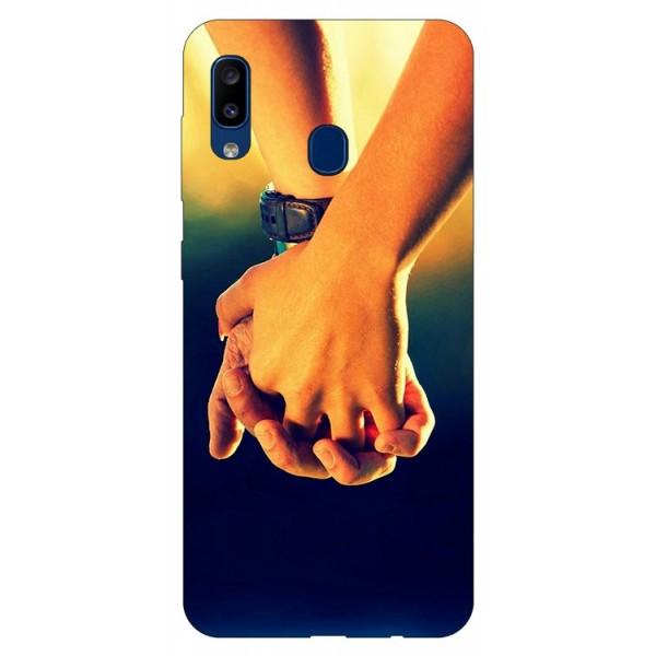 Husa Silicon Soft Upzz Print Samsung Galaxy A20 Model Together imagine itelmobile.ro 2021