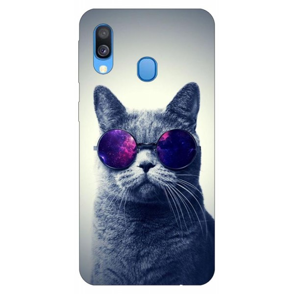 Husa Silicon Soft Upzz Print Samsung Galaxy A40 Model Cool Cat imagine itelmobile.ro 2021