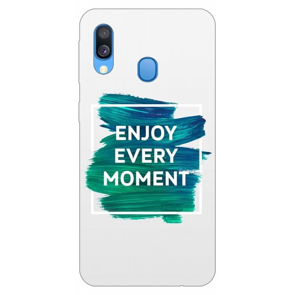 Husa Silicon Soft Upzz Print Samsung Galaxy A40 Model Enjoy imagine itelmobile.ro 2021
