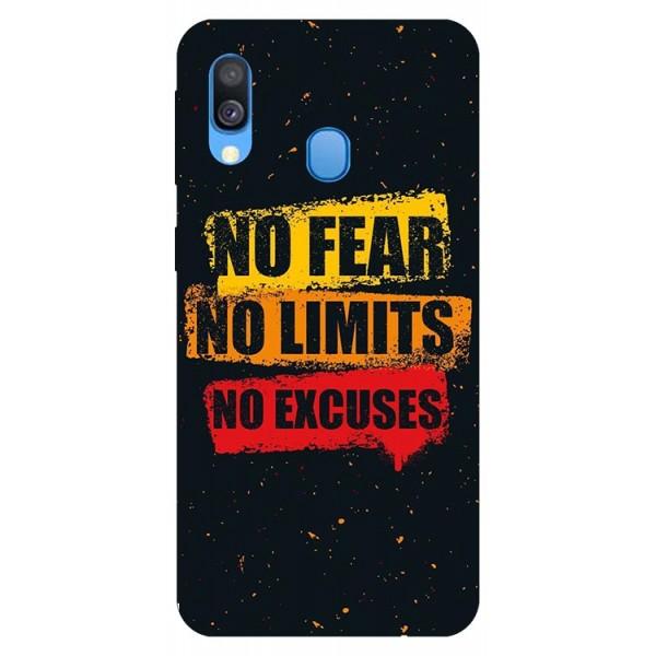 Husa Silicon Soft Upzz Print Samsung Galaxy A40 Model Fear imagine itelmobile.ro 2021