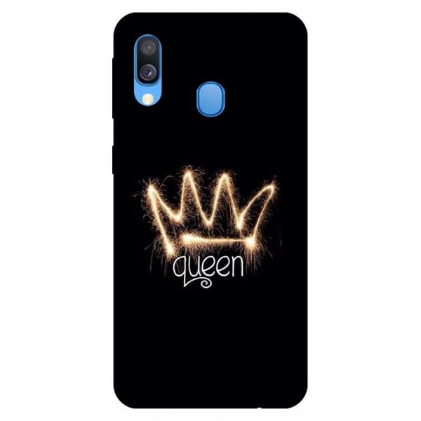 Husa Silicon Soft Upzz Print Samsung Galaxy A40 Model Queen imagine itelmobile.ro 2021