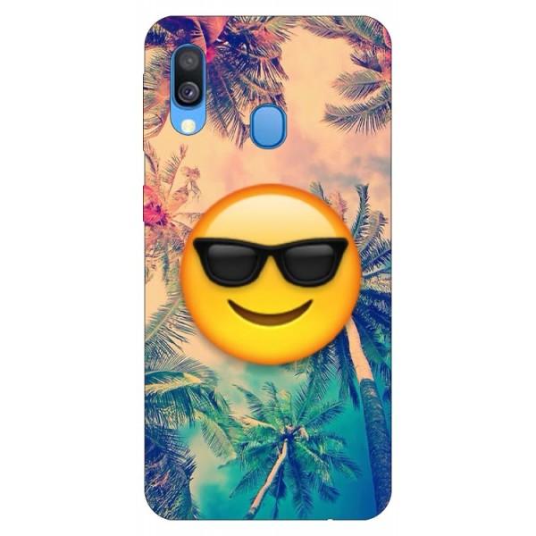 Husa Silicon Soft Upzz Print Samsung Galaxy A40 Model Smile imagine itelmobile.ro 2021
