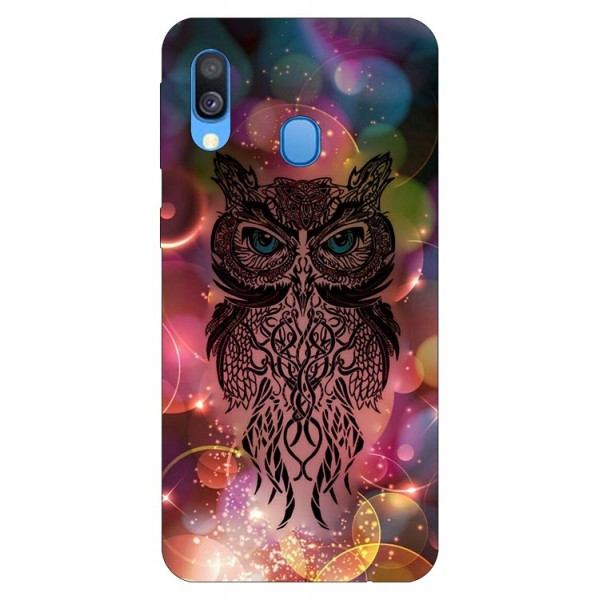 Husa Silicon Soft Upzz Print Samsung Galaxy A40 Model Sparkle Owl imagine itelmobile.ro 2021