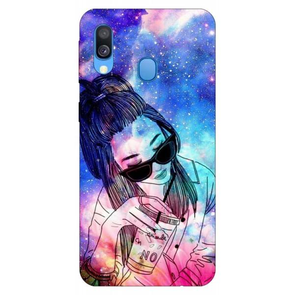Husa Silicon Soft Upzz Print Samsung Galaxy A40 Model Universe Girl imagine itelmobile.ro 2021