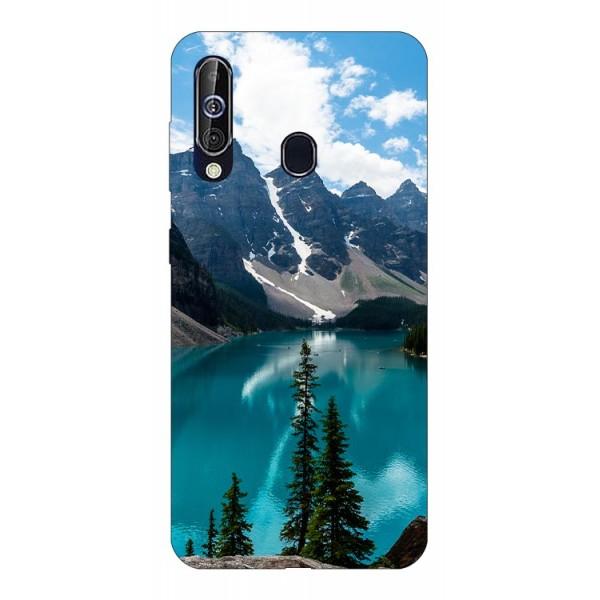 Husa Silicon Soft Upzz Print Samsung Galaxy A60 Model Blue imagine itelmobile.ro 2021