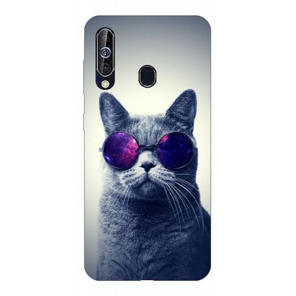 Husa Silicon Soft Upzz Print Samsung Galaxy A60 Model Cool Cat imagine itelmobile.ro 2021