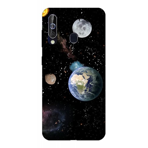 Husa Silicon Soft Upzz Print Samsung Galaxy A60 Model Earth imagine itelmobile.ro 2021