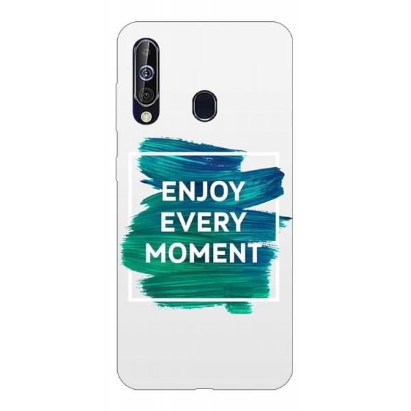 Husa Silicon Soft Upzz Print Samsung Galaxy A60 Model Enjoy imagine itelmobile.ro 2021