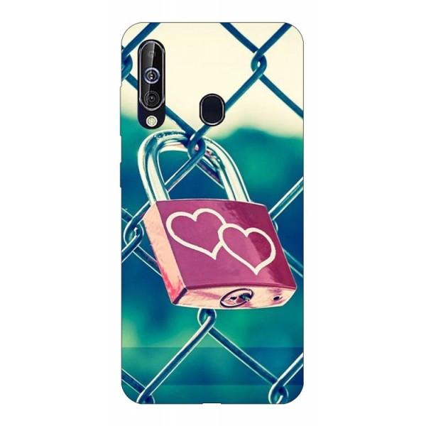 Husa Silicon Soft Upzz Print Samsung Galaxy A60 Model Heart Lock imagine itelmobile.ro 2021