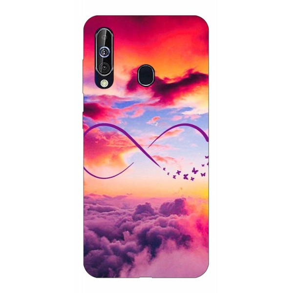 Husa Silicon Soft Upzz Print Samsung Galaxy A60 Model Infinity imagine itelmobile.ro 2021
