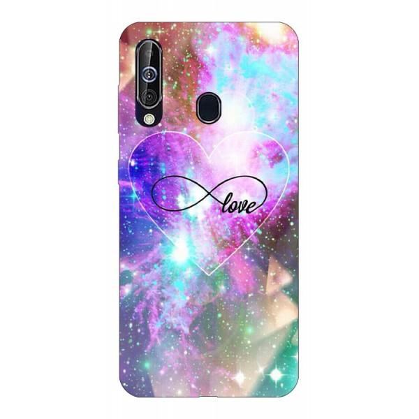 Husa Silicon Soft Upzz Print Samsung Galaxy A60 Model Neon Love imagine itelmobile.ro 2021