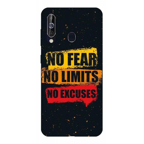 Husa Silicon Soft Upzz Print Samsung Galaxy A60 Model No Fear imagine itelmobile.ro 2021