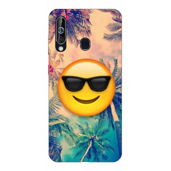 Husa Silicon Soft Upzz Print Samsung Galaxy A60 Model Smile imagine itelmobile.ro 2021