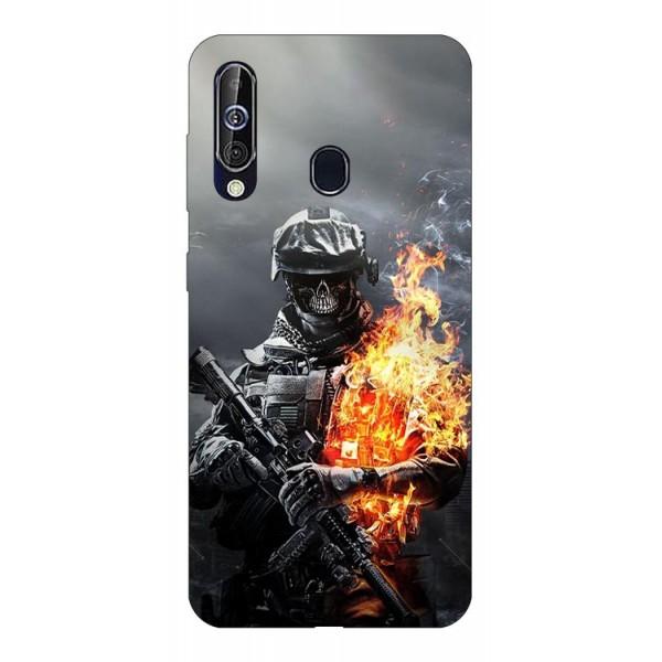 Husa Silicon Soft Upzz Print Samsung Galaxy A60 Model Solider imagine itelmobile.ro 2021