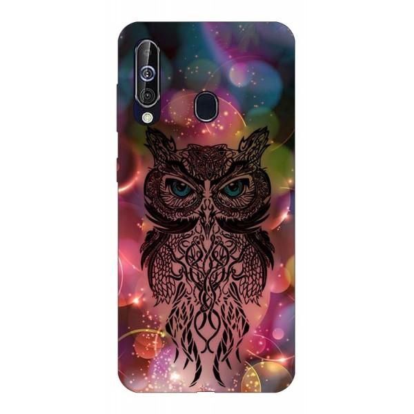 Husa Silicon Soft Upzz Print Samsung Galaxy A60 Model Sparkle Owl imagine itelmobile.ro 2021