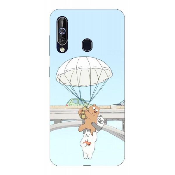 Husa Silicon Soft Upzz Print Samsung Galaxy A60 Model Three Bears imagine itelmobile.ro 2021
