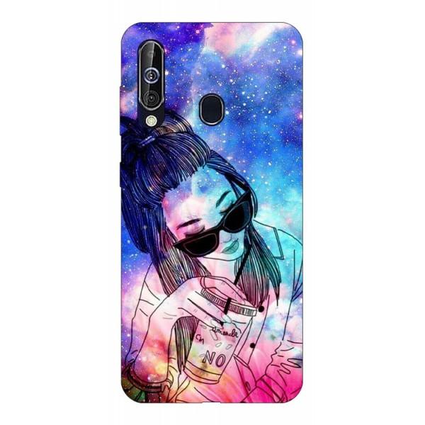 Husa Silicon Soft Upzz Print Samsung Galaxy A60 Model Universe Girl imagine itelmobile.ro 2021