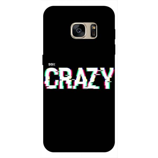 Husa Silicon Soft Upzz Print Samsung S7 Model Crazy imagine itelmobile.ro 2021