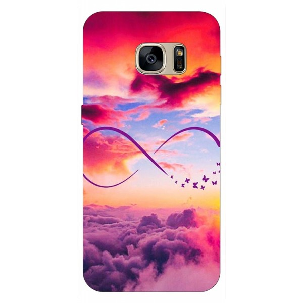 Husa Silicon Soft Upzz Print Samsung S7 Model Infinity imagine itelmobile.ro 2021