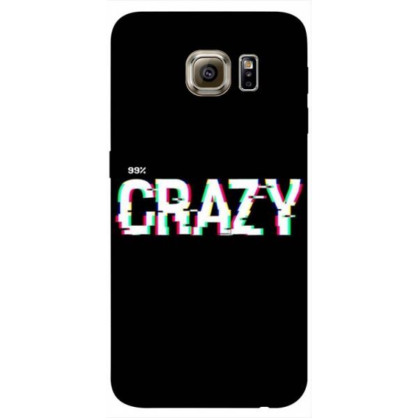 Husa Silicon Soft Upzz Print Samsung S6 Model Crazy imagine itelmobile.ro 2021