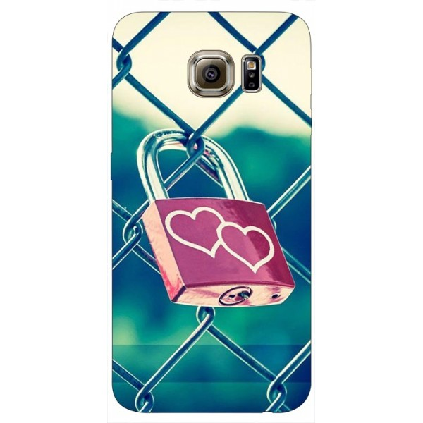 Husa Silicon Soft Upzz Print Samsung S6 Model Heart Lock imagine itelmobile.ro 2021