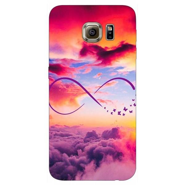 Husa Silicon Soft Upzz Print Samsung S6 Model Infinity imagine itelmobile.ro 2021