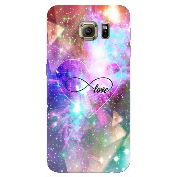 Husa Silicon Soft Upzz Print Samsung S6 Model Neon Love imagine itelmobile.ro 2021