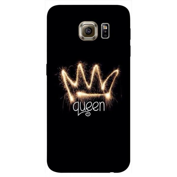 Husa Silicon Soft Upzz Print Samsung S6 Model Queen imagine itelmobile.ro 2021