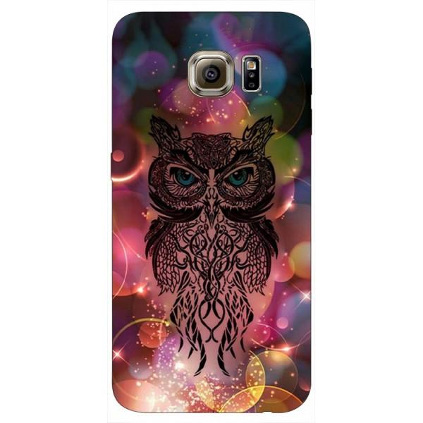 Husa Silicon Soft Upzz Print Samsung S6 Model Sparkle Owl imagine itelmobile.ro 2021