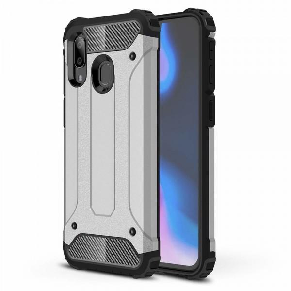 Husa Armor Upzz Samsung Galaxy A40 Anti-shock Silver imagine itelmobile.ro 2021