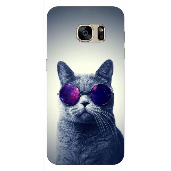 Husa Silicon Soft Upzz Print Samsung S7 Edge Model Cool Cat imagine itelmobile.ro 2021