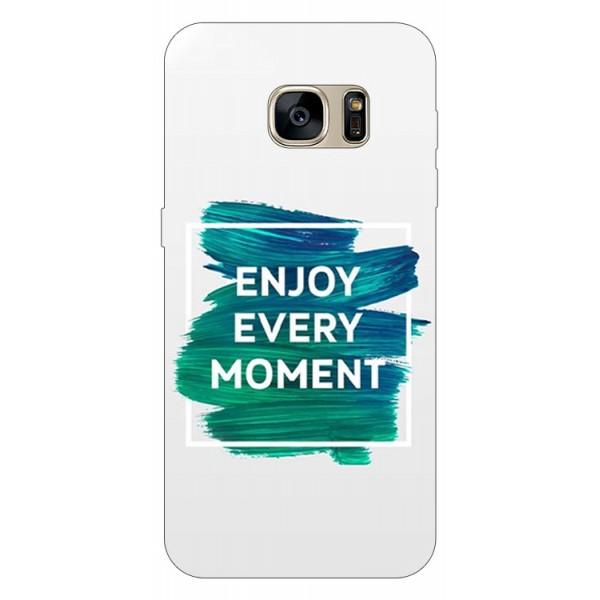 Husa Silicon Soft Upzz Print Samsung S7 Edge Model Enjoy imagine itelmobile.ro 2021