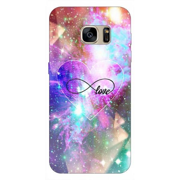 Husa Silicon Soft Upzz Print Samsung S7 Edge Model Neon Love imagine itelmobile.ro 2021