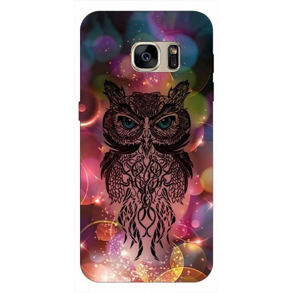 Husa Silicon Soft Upzz Print Samsung S7 Edge Model Sparkle Owl imagine itelmobile.ro 2021