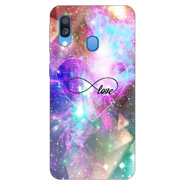 Husa Silicon Soft Upzz Print Samsung Galaxy A20e Model Neon Love imagine itelmobile.ro 2021