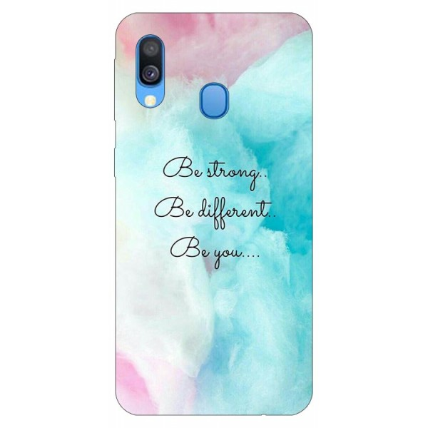 Husa Silicon Soft Upzz Print Samsung Galaxy A40 Model Be You imagine itelmobile.ro 2021