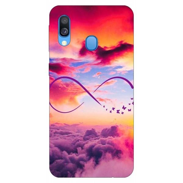 Husa Silicon Soft Upzz Print Samsung Galaxy A20e Model Infinity imagine itelmobile.ro 2021