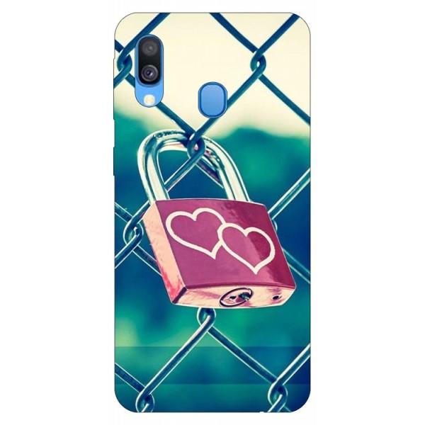 Husa Silicon Soft Upzz Print Samsung Galaxy A20e Model Heart Lock imagine itelmobile.ro 2021