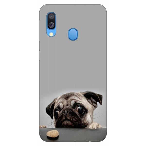 Husa Silicon Soft Upzz Print Huawei Samsung Galaxy A40 Model Dog imagine itelmobile.ro 2021