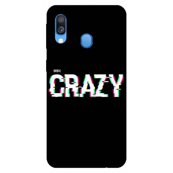 Husa Silicon Soft Upzz Print Samsung Galaxy A20e Model Crazy imagine itelmobile.ro 2021
