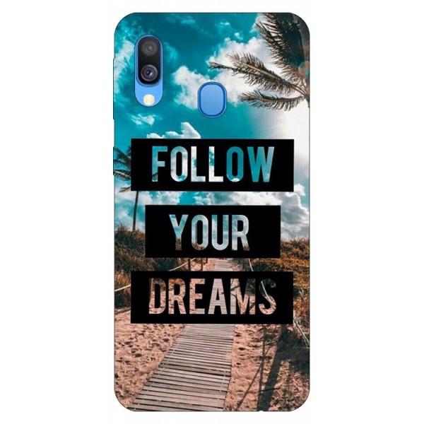 Husa Silicon Soft Upzz Print Samsung Galaxy A40 Model Dreams imagine itelmobile.ro 2021