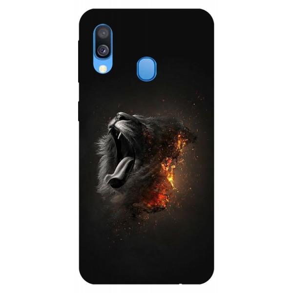 Husa Silicon Soft Upzz Print Samsung Galaxy A40 Model Lion imagine itelmobile.ro 2021