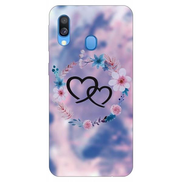 Husa Silicon Soft Upzz Print Samsung Galaxy A20e Model Love imagine itelmobile.ro 2021