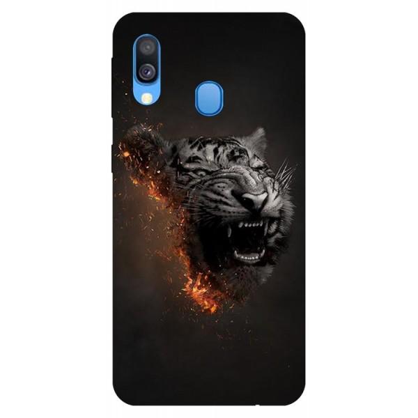 Husa Silicon Soft Upzz Print Samsung Galaxy A20e Model Tiger imagine itelmobile.ro 2021
